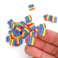 Chunky Polymer Clay Rainbow Squares